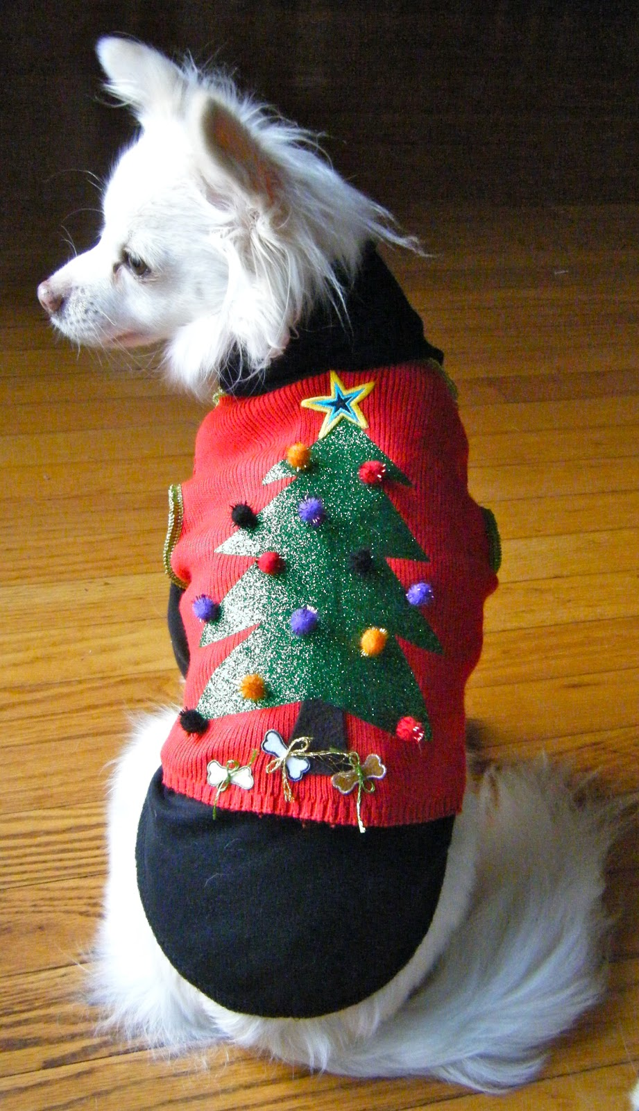 Ugly christmas sweater for dog