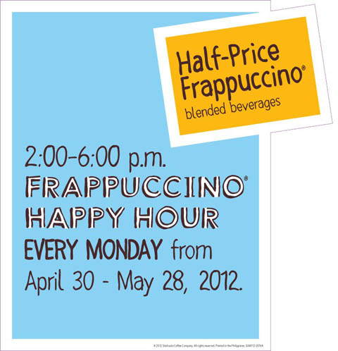 Starbucks Frapuccino Happy Hour Philippine Promos Deals Discounts Freebies Coupons Sales