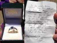 Ring and sad note found on Mount Islip, August 8, 2015, Crystal Lake, Angeles National Forest
