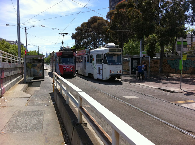 Tram Interchange at St Kilda Junction 2012
