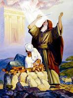 """Nabi Ibrahim adalah putera Aaazar {Tarih} bin Tahur bin Saruj bin Rau' bin Falij bin Aaabir bin Syalih bin Arfakhsyad bin Saam bin Nuh A.S.Ia dilahirkan di sebuah tempat bernama """"Faddam A'ram"""" dalam kerajaan """"Babylon"""" yang pd waktu itu diperintah oleh seorang raja bernama """"Namrud bin Kan'aan.""""  Kerajaan Babylon pd masa itu termasuk kerajaan yang makmur rakyat hidup senang, sejahtera dalam keadaan serba cukup sandang mahupun pandangan serta saranan-saranan yang menjadi keperluan pertumbuhan jasmani mrk.Akan tetapi tingkatan hidup rohani mrk masih berada di tingkat jahiliyah. Mrk tidak mengenal Tuhan Pencipta mrk yang telah mengurniakan mrk dengan segala kenikmatan dan kebahagiaan duniawi. Persembahan mrk adalah patung-patung yang mrk pahat sendiri dari batu-batu atau terbuat dari lumpur dan tanah. Raja mereka Namrud bin Kan'aan menjalankan tampuk pemerintahnya dengan tangan besi dan kekuasaan mutlak.Semua kehendaknya harus terlaksana dan segala perintahnya merupakan undang-undang yang tidak dpt dilanggar atau di tawar.  Kekuasaan yang besar yang berada di tangannya itu dan kemewahan hidup yang berlebuh-lebihanyang ia nikmati lama-kelamaan menjadikan ia tidak puas dengan kedudukannya sebagai raja. Ia merasakan dirinya patut disembah oleh rakyatnya sebagai tuhan. Ia berfikir jika rakyatnya mahu dan rela menyembah patung-patung yang terbina dari batu yang tidal dpt memberi manfaat dan mendtgkan kebahagiaan bagi mrk, mengapa bukan dialah yang disembah sebagai tuhan.Dia yang dpt berbicara, dapat mendengar, dpt berfikir, dpt memimpin mrk, membawa kemakmuran bagi mereka dan melepaskan dari kesengsaraan dan kesusahan. Dia yang dpt mengubah orang miskin menjadi kaya dan orang yang hina-dina diangkatnya menjadi orang mulia. di samping itu semuanya, ia adalah raja yang berkuasa dan memiliki negara yang besar dan luas."""