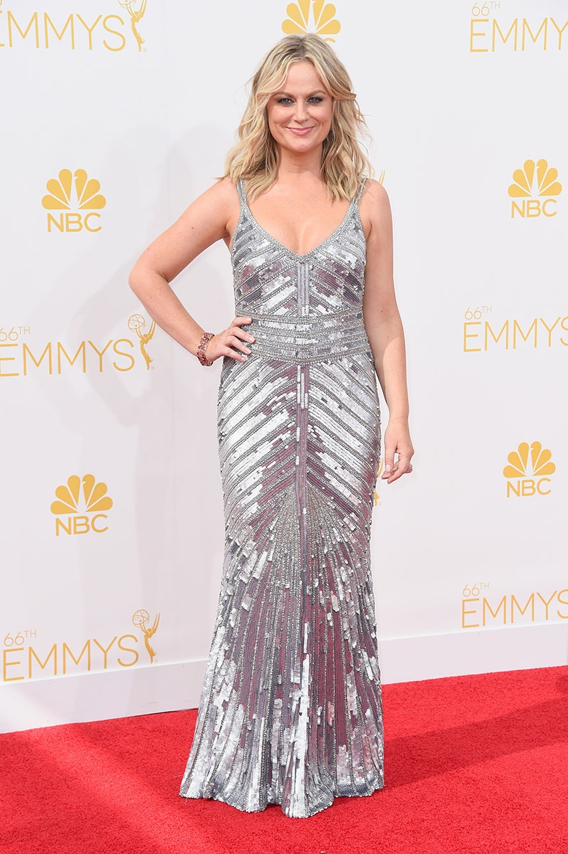 Amy Poehler in Theia at the Emmy Awards