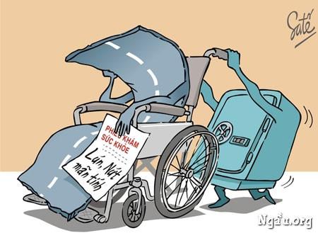 Biếm họa về những con đường ở Việt Nam hiện nay