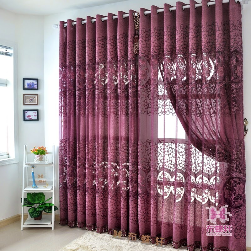 Unique curtain designs for living room window decorations for Curtain design for living room