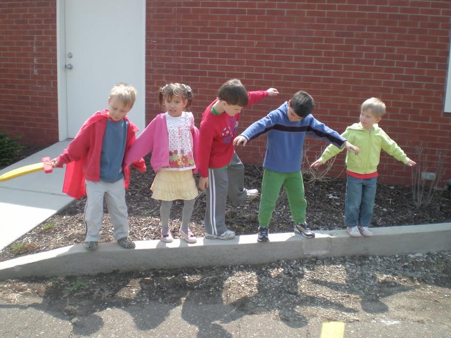 Little Otis kids balancing