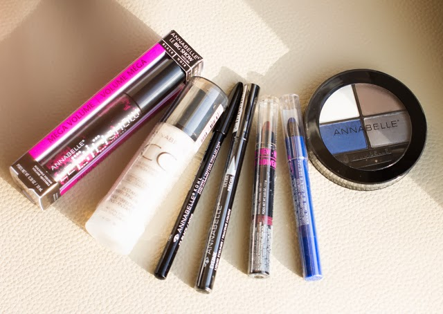 annabelle cosmetics, annabelle eyeshadow quad, annabelle eyeliner, annabelle eyeliner lipstick, annabelle big show mascara, annabelle holiday package