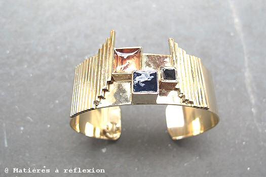 Bracelet Manchette Wonder Moonstrock doré