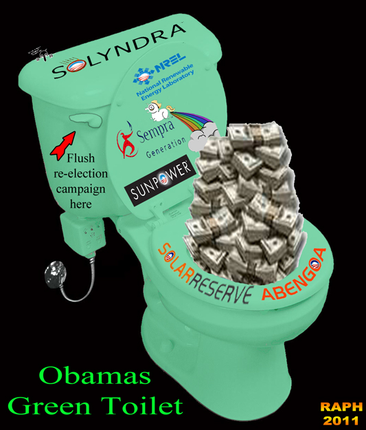 Obama in the toilet flushing