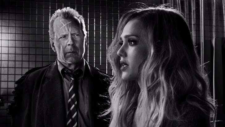 Bruce Willis Jessica Alba Sin City