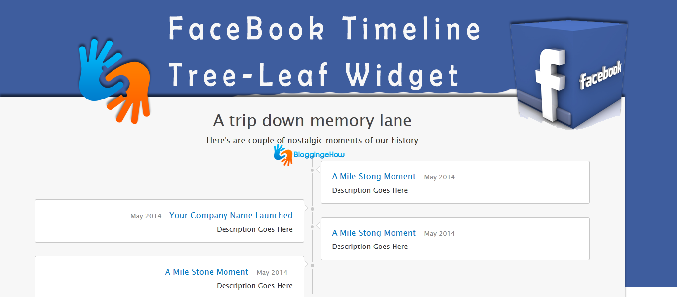 facebook timeline treeleaf widget bloggingehow