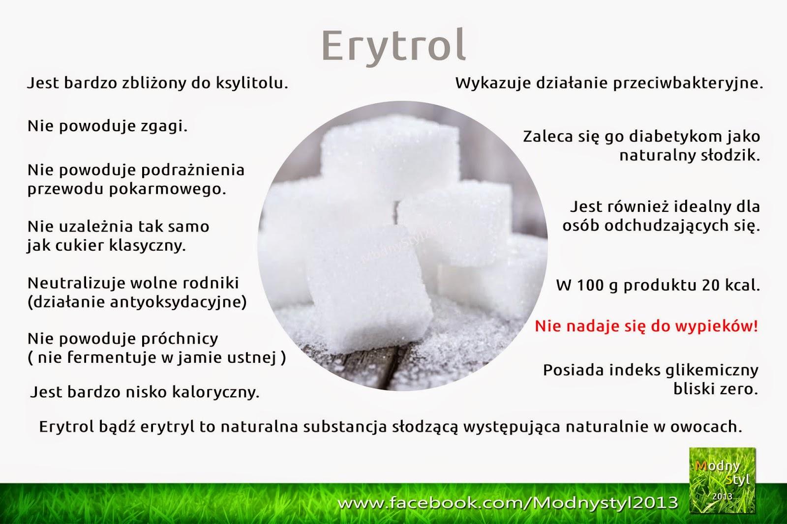 Erytrol naturalny słodzik