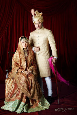 Wedding Photo of Saif Ali Khan and Kareena Kapoor
