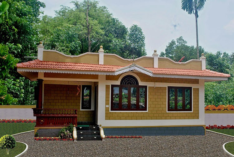 Extraordinary interlocking brick house plans images best for Low cost kerala veedu plans