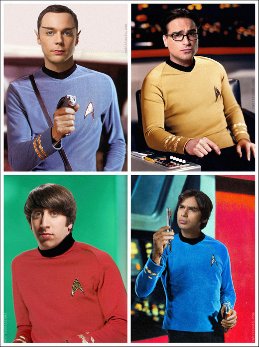 The Big Bang Theory Star Trek Photomanipulation por Rabittooth