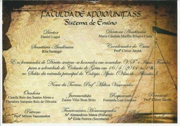 Formatura de Direito 2013.2