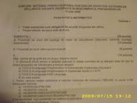 Subiecte titularizare Informatica - Cluj 2009