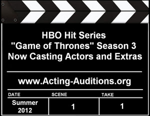 Game of Thrones Season 3 Actor Extras Casting