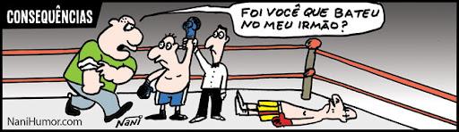 Tiras: Consequências. boxe