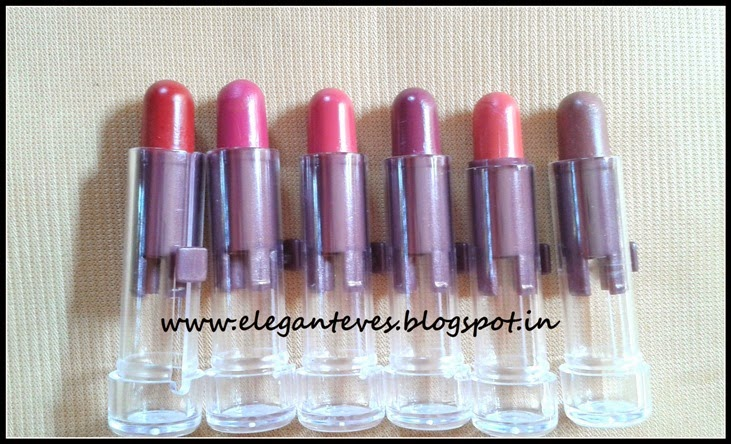 Review, Swatches of Amway Attitude Lipstick Tester Pack