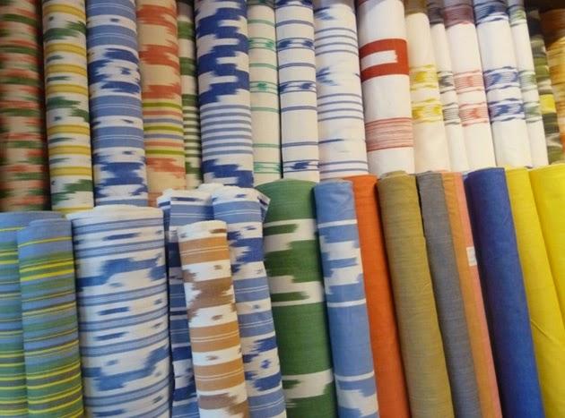 Espaces instants tissus color s telas coloridas - Tissus bohemes colores ...