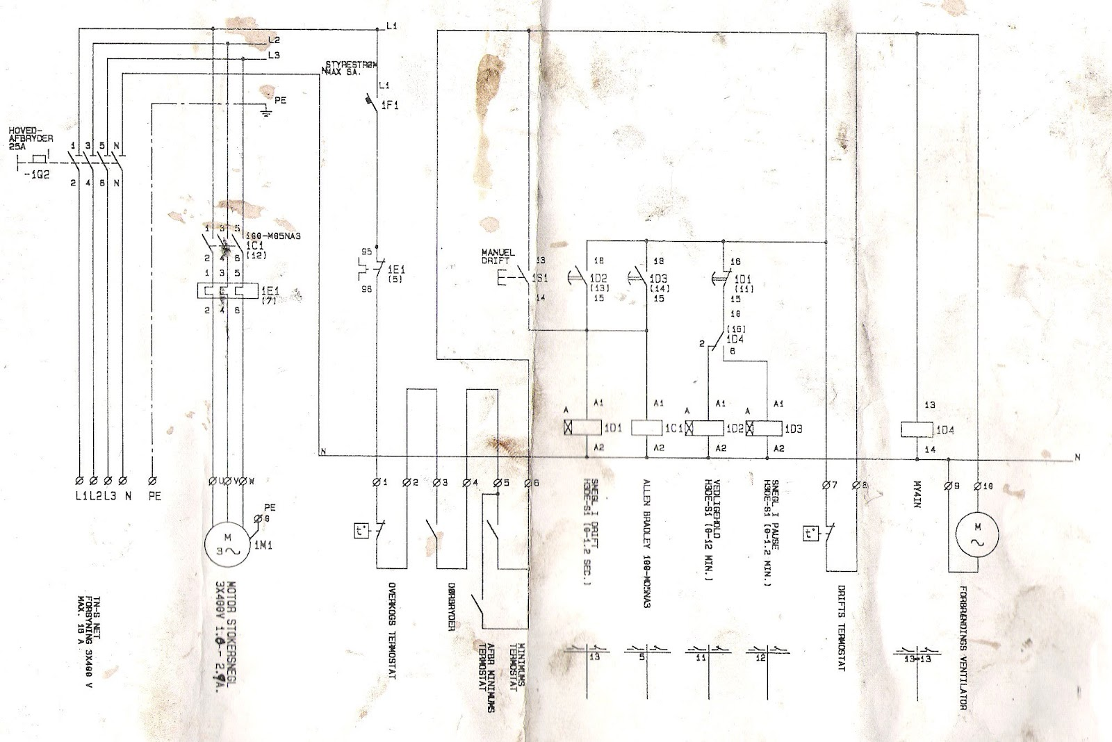 pellet burner controller schematic