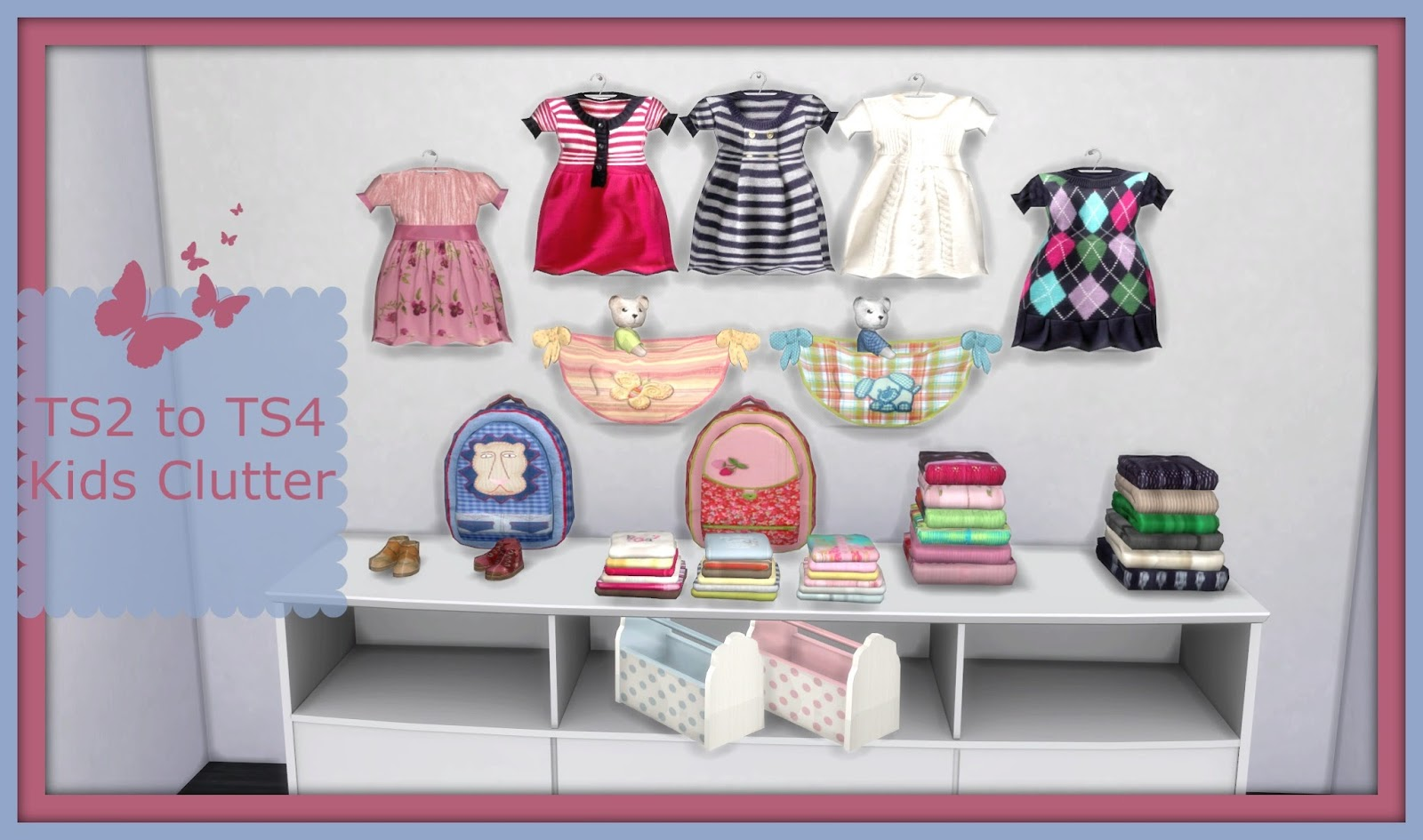 Sims 4 - TS2 to TS4 Suza Kids Clutter - Dinha