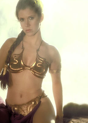 And then in Return of the Jedi -- the gold bikini.