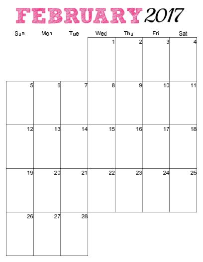 Blank Vertical Calendar Template - Calendar Examples