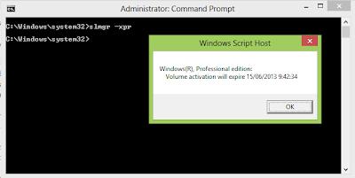 Cara Melihat Masa Expired Windows 8 Pro atau Enterprise