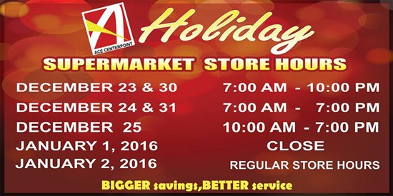 Koronadal malls holiday schedules