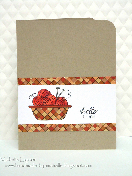 Basket of Yarn card by Michelle Lupton for Newton's Nook Designs