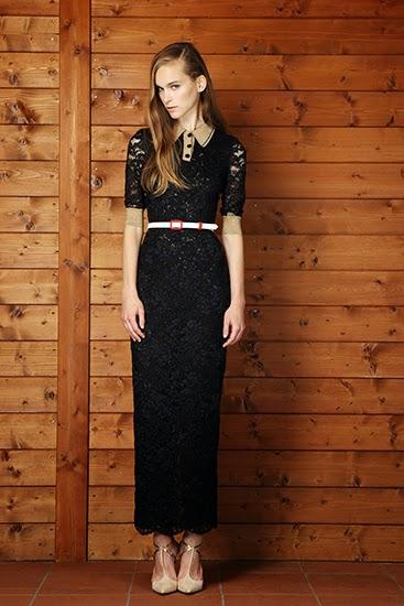 siyah dantel elbise polo