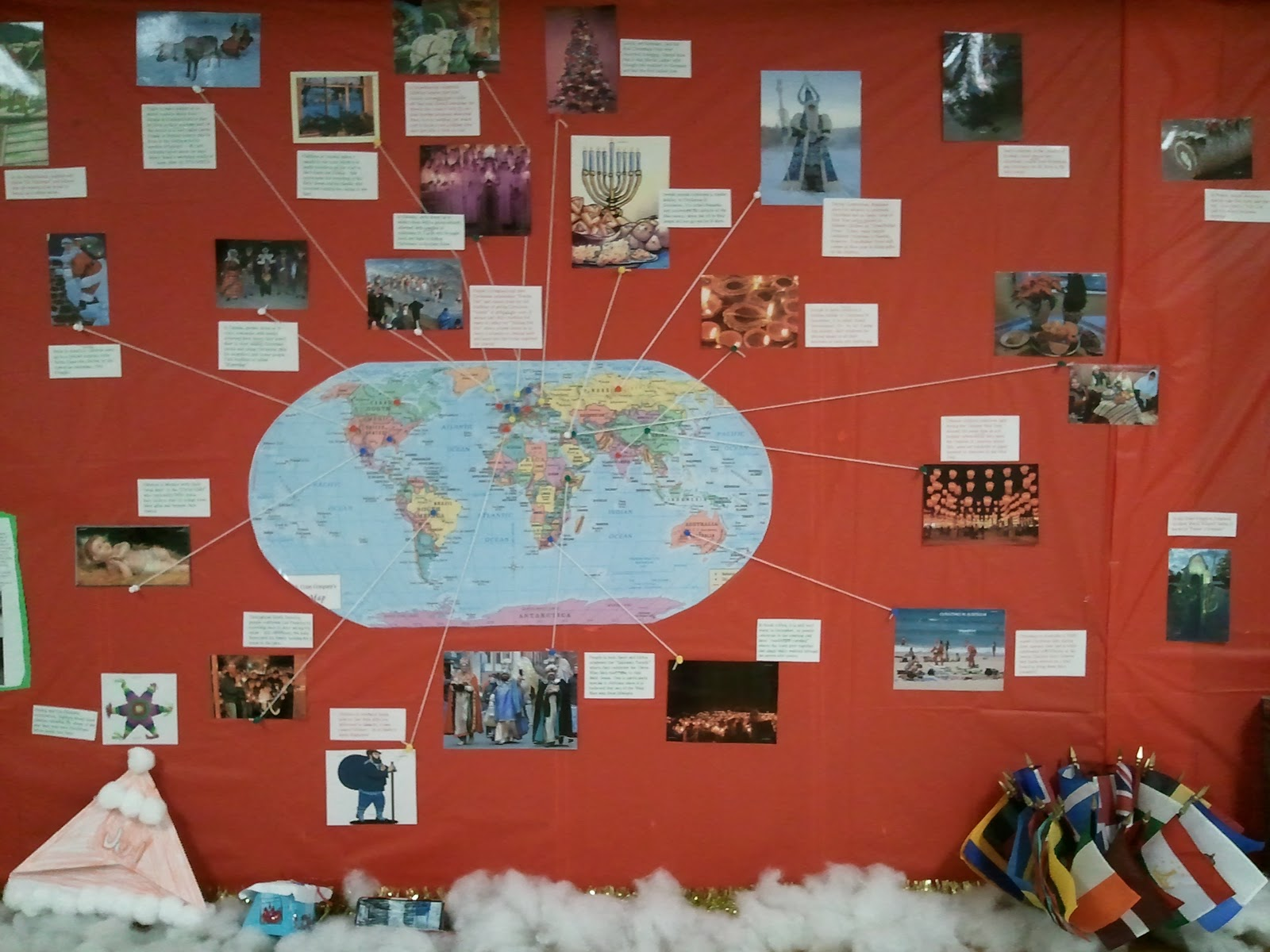 stunning Christmas Around The World Bulletin Board Part - 10: the ART of learning .