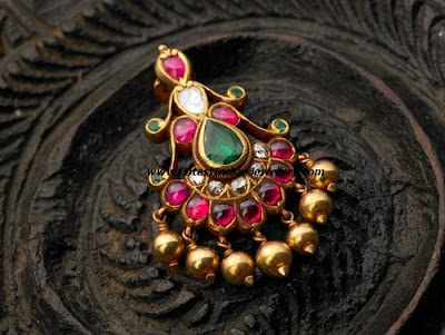 gold pota ruby pendant