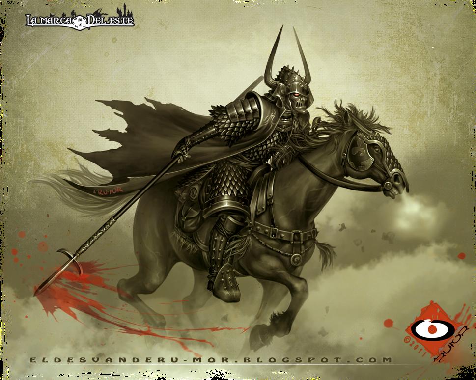 Ilustración de ªRU-MOR hecha para el RPG La Marca del Este, exhibida en la exposición Sueños de Japón