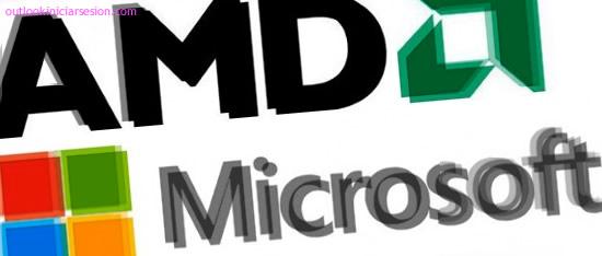 logos de amd y microsoft