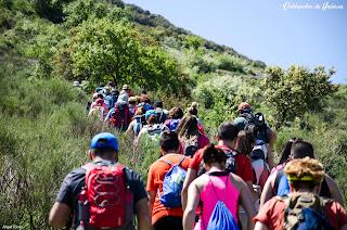 Senderistas en la Sierra Sur de Jaén