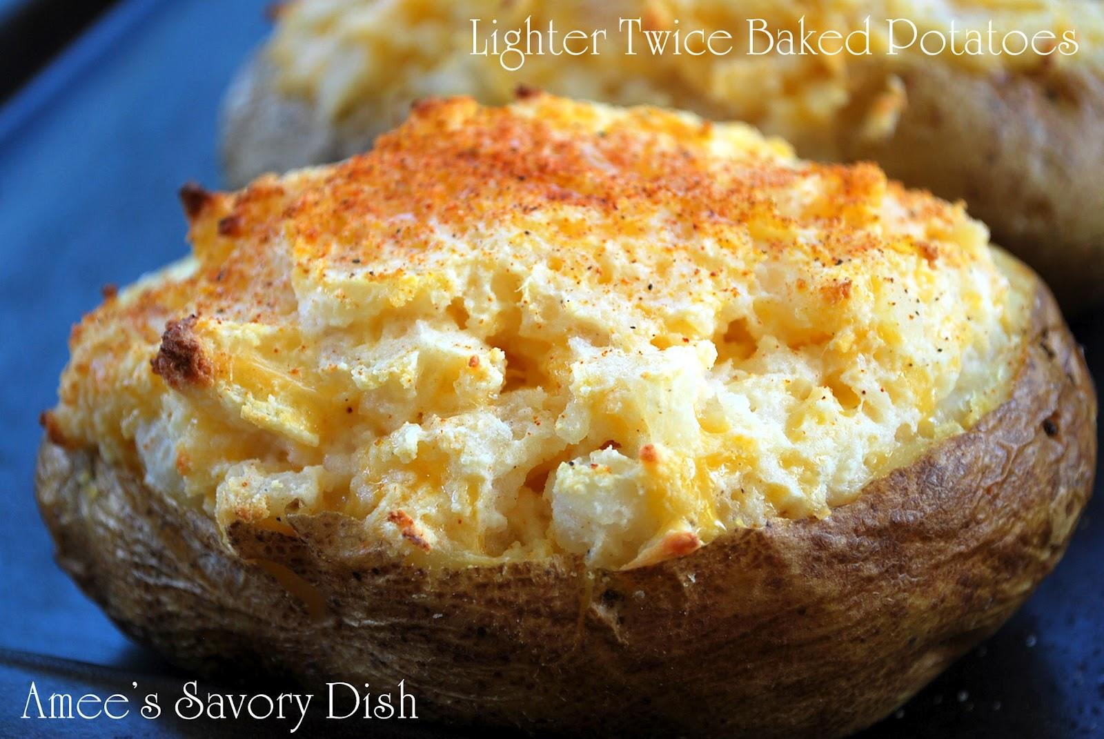 Twice Baked Potatoes Lightened-Up