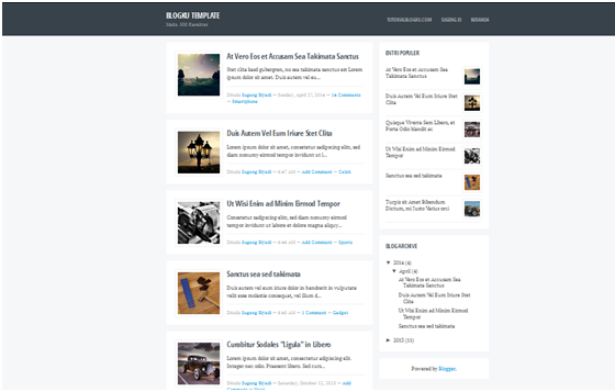 template blog, download template