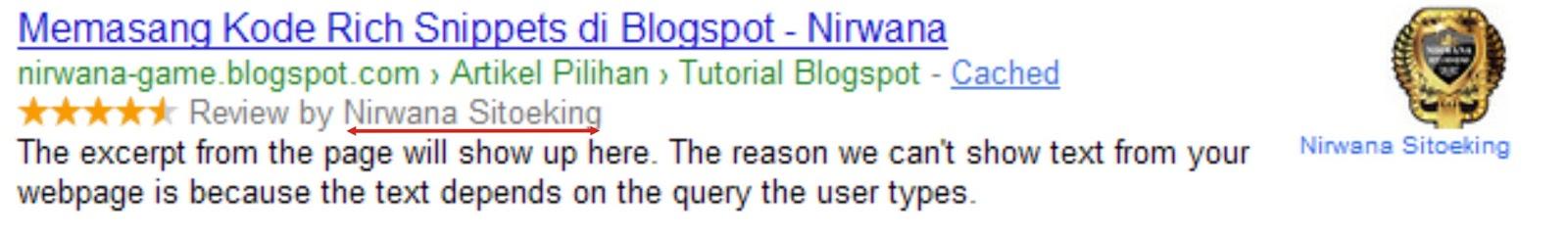 Cara Memasang Kode Rich Snippets di Blogspot