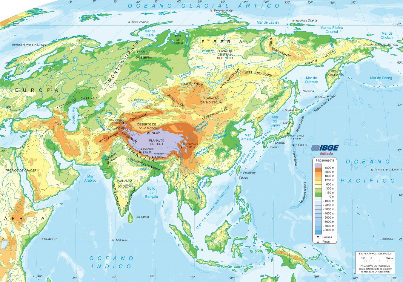 Mapa Demografico De Asia