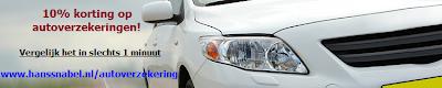 Op hanssnabel.nl 10% korting op autoverzekeringen