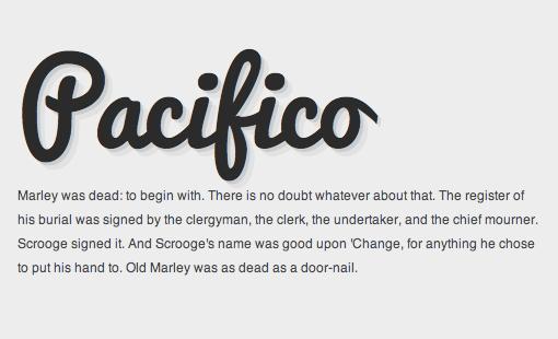 Thick Script Font