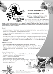 Anouncement  Sarawak International Bird Race 2016
