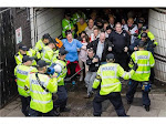 Police in Coventry - EDL herded into a tunnel & battered around the head