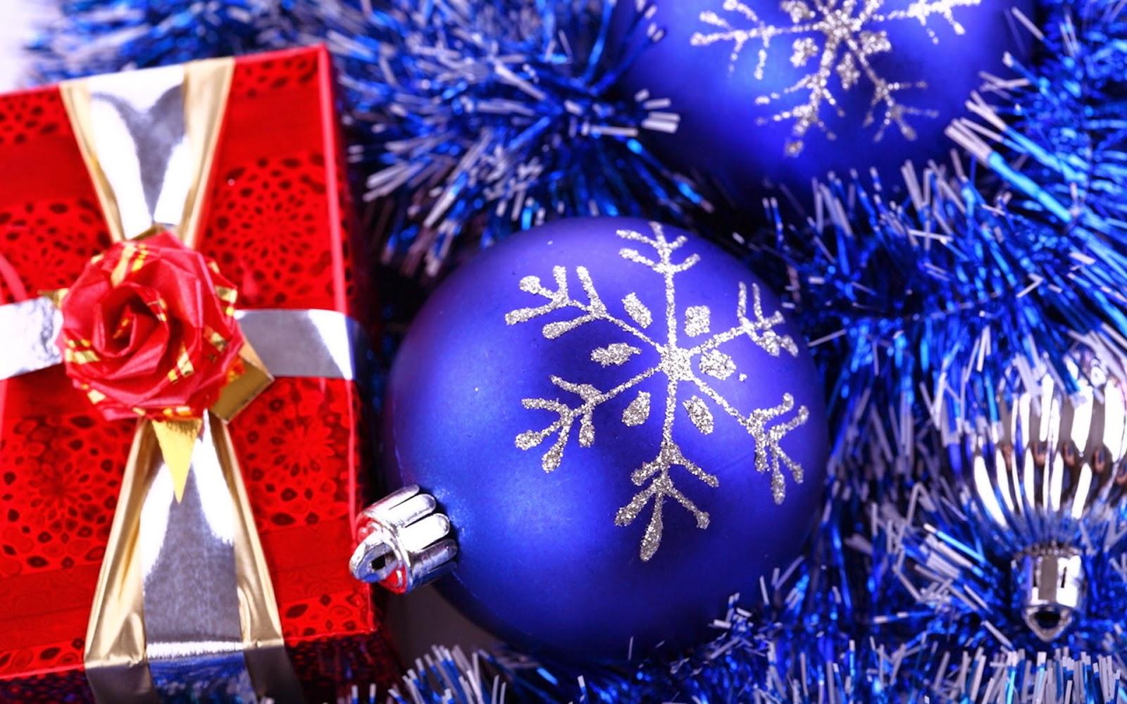 Awesome Deep Blue Christmas Bulbs Ornament