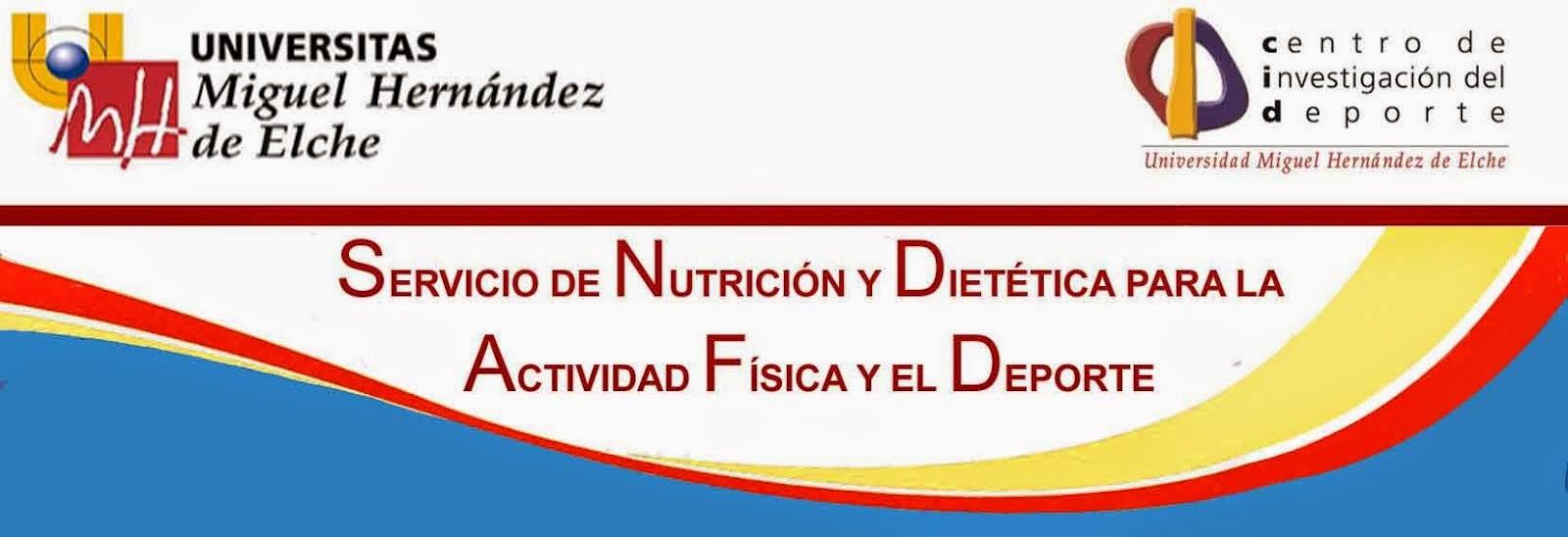 <center>Servicio de Nutrición y Dietética Deportiva UMH</center>