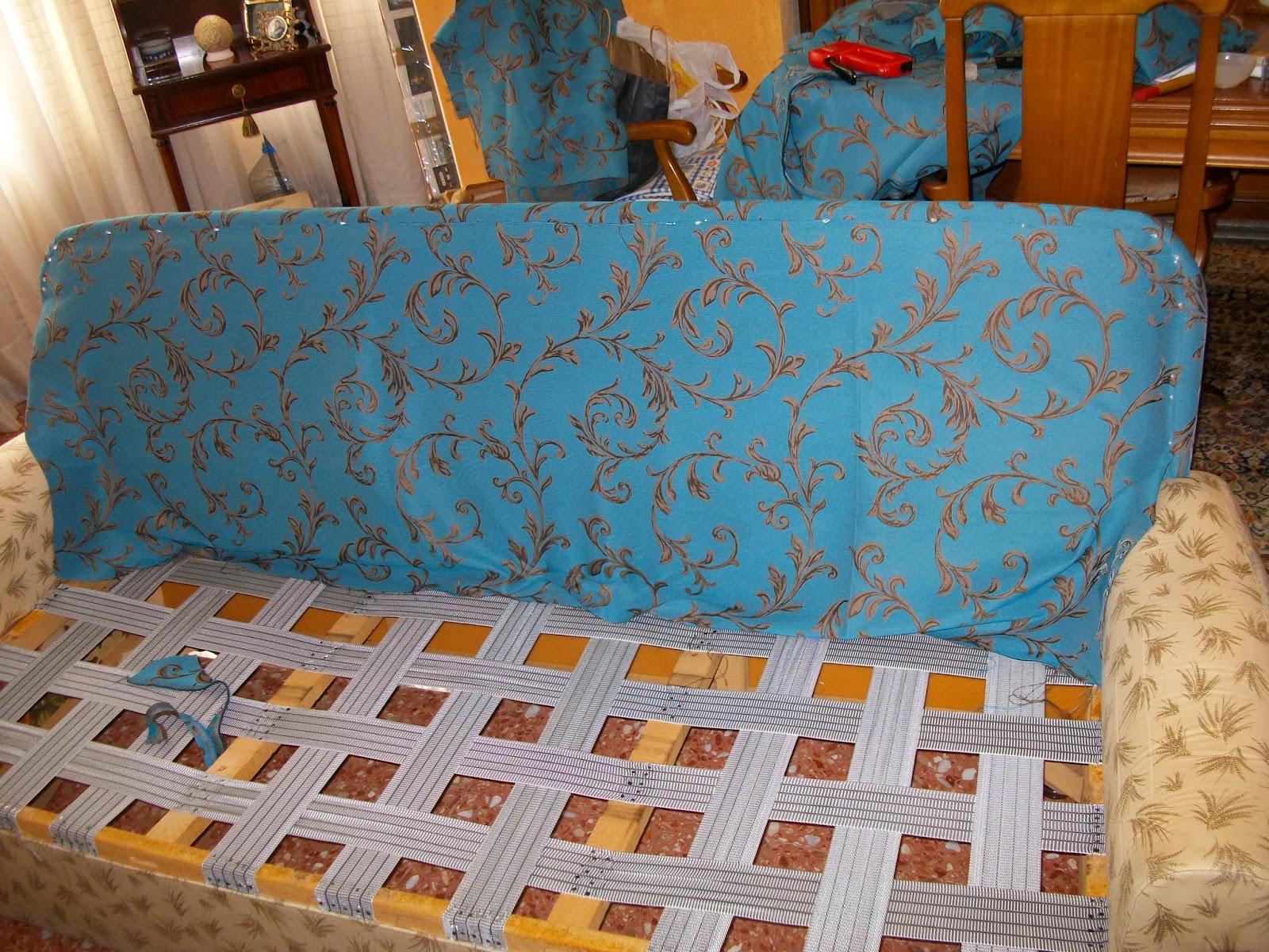 El blog de la restauradora tapizar un sof de tres plazas ii - Tapizar sofa ...