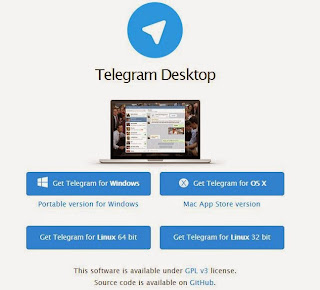 Guna Telegram Messenger di Dekstop Komputer, Guna Telegram di PC,