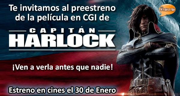 Concurso Preestreno Capitán Harlock